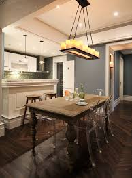 Linear Chandelier Dining Room Linear Chandelier Kitchen Transitional With Farmhouse Table