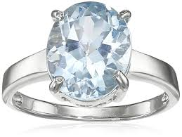 topaz gemstone rings images Sterling silver oval blue topaz ring size 6 jewelry jpg