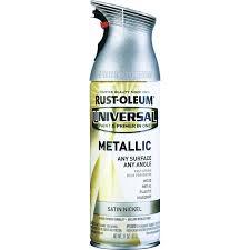 rust oleum 11 oz satin nickel metallic universal metallic spray