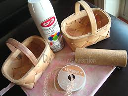 diy decorate basket for flower girls found two cute little