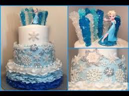 frozen themed birthday fondant cake bday