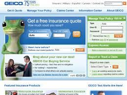 Geico Car Insurance Estimate by Geico Com Geico Car Insurance Quotes