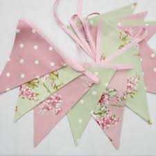 Shabby Chic Banner by Shabby Chic Fabric Banners Bunting Garland Wedding Bunting