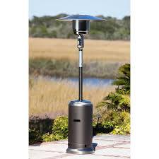 Firesense Table Top Heater Mocha And Stainless Steel Standard Series Patio Heater