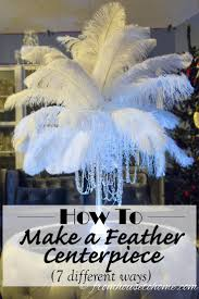 diy how to make ostrich feather centerpieces plus 7 variations