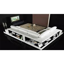 canapé d angle avec rangement canapé d angle design en cuir loretto avec casiers de rangement