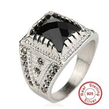 galaxy wedding rings galaxy classic vintage men ring real silver plated black
