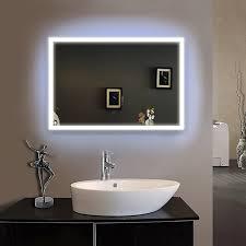 Mirror Framed Mirror Bathroom 80x100cmbath Mirror Frame Led Illuminated Framed Bath Mirror