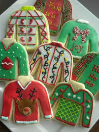 sweater cookies inject some humor ugliest sweaters grinch and snowman