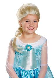 party city halloween costumes elsa frozen girls elsa child wig walmart com