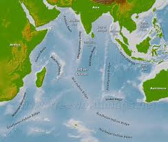 Map Of The Oceans Geography And Map Of The Indian Ocean