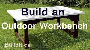 How To Make An Outside Bench How To Make An Outdoor Workbench