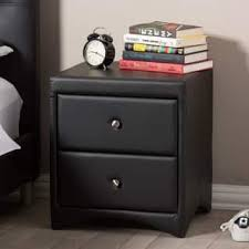 faux leather nightstands u0026 bedside tables for less overstock com