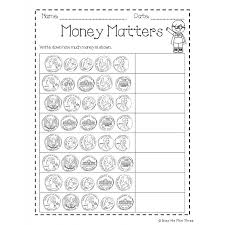 money book coins and dollar kindergarten u0026 first grade