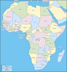 africa map color africa free map free blank map free outline map free base map