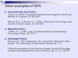 apa format for journal article with one author