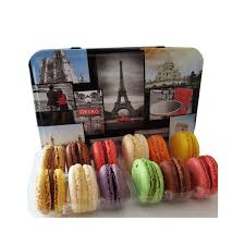 french macaroons in decorative paris tin from france 25