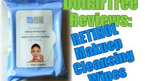 dollartree reviews retinol makeup cleansing wipes youtube