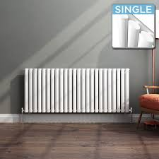 ibathuk 600 x 1440 mm white column designer radiator horizontal