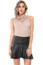 crochet chic taupe bodysuit cicihot top shirt clothing online