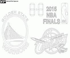 final 2015 nba warriors cavaliers coloring printable game