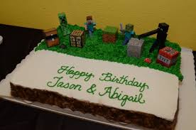 happy birthday jason abigail minecraft cake cakecentral