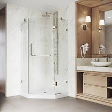 38 Neo Angle Shower Door Vigo Piedmont 38 In X 76 In Frameless Neo Angle Hinged Shower