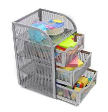 Revolving Desk Organizer by Amazon Com Easypag Mesh Desk Organizer 3 Drawer Mini Hutch