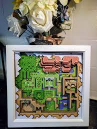 wbn home design inc zelda a link to the past light map 3d shadow box diorama