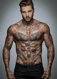 across chest tattoos