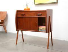 mid century entry table 1950s danish modern gunni oman teak entry chest table mid century