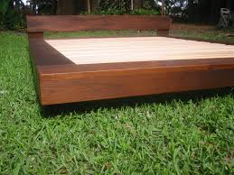 Wooden Platform Bed Frame Plans by Diy Outdoor Platform Bed Teak Or Alder Wood Beach Platform Bed