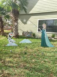 disney s frozen elsa and olaf lawn ornaments by nevermore