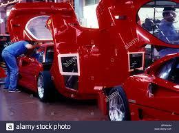 ferrari f40 production line marenello 1987 stock photo royalty