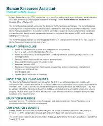 human resource generalist resume 22420