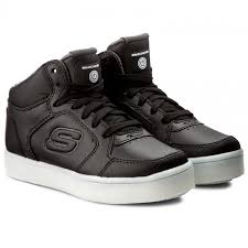 shoes skechers energy lights 90600l blk black laced shoes