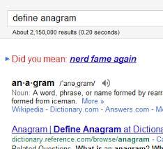 Google Did You Mean Meme - list of synonyms and antonyms of the word name anagram