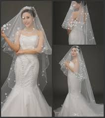 2015 new little hand made flower bridal veils ivory white tulle