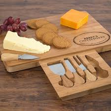 personalized cheese board set housewarming gifts for a new home gettingpersonal co uk