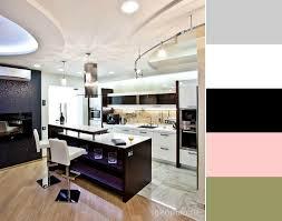 and pink kitchen black night