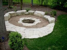 Firepit Rock Fascinating Rock Pits Designs Pit With Bench And Patio