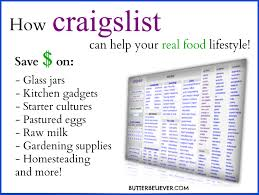 how craigslist can help your real food lifestyle butter believer
