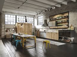 kitchen style open shelves industrial hanging light modern