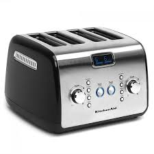 Motorised Toaster Kitchenaid Artisan Series 4 Slice Toaster Onyx Black For Nz