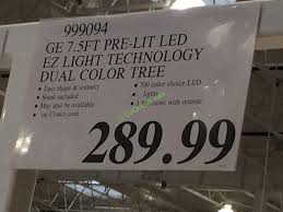 ge 7 5 ft pre lit led easy light technology dual color