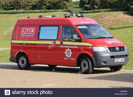 volkswagen fire fire investigation unit dog team london fire brigade stock photo