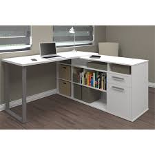 stand up l with shelves l shaped desk with side storage multiple finishes walmart com
