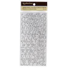 rhinestone letter stickers recollections alphabet stickers glitter rhinestone script