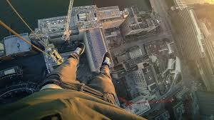 james kingston jumps insane gap to hang off 150m high south bank