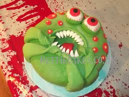 Halloween Monster Cake by Gory Halloween Cake Cakecentral Com